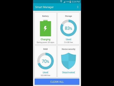 How to disable device security in smart manger Samsung phone