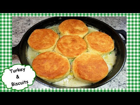 Easy Turkey and Biscuits ~ Leftover Turkey One Pot Casserole Recipe