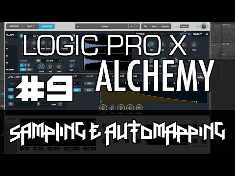 Logic Pro X - Alchemy Tutorial - PART 9 - Sampling, Automap Samples, Looping, Layering