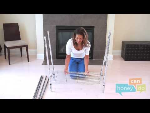 Honey-Can-Do GAR-01120 Heavy Duty Rolling Garment Rack Instruction Video