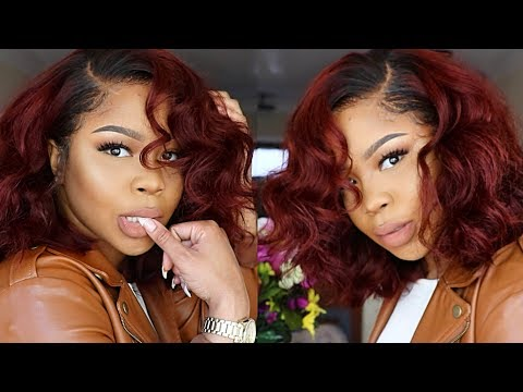 ROMANTIC RED LONG BOB : START TO FINISH FRONTAL WIG ft Ali Pearl Hair