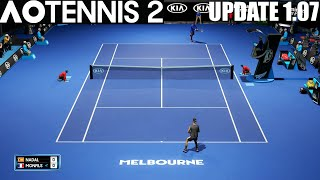AO Tennis 2 - Rafael Nadal vs Gaël Monfils - UPDATE 1.07 - PS4 Gameplay