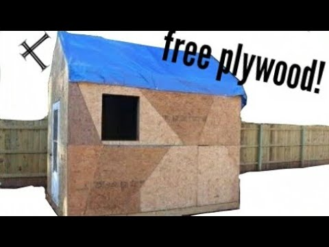 Building a Shed on a Budget! (part 5) plywood time!
