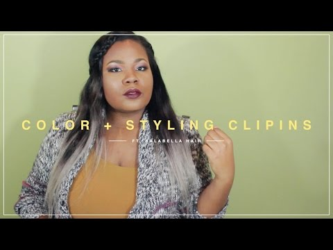 Chocolate Grey Ombre' + Clip ins Install ft. BalaBellaHair | Mary Elizabeth