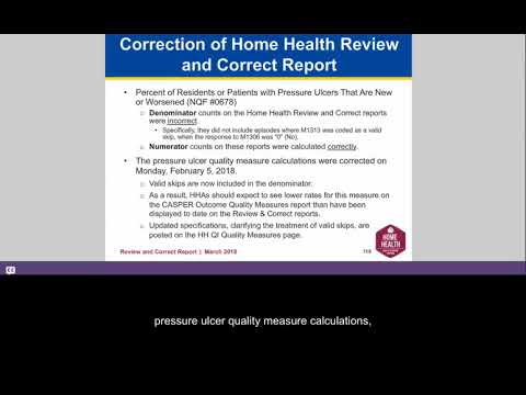 CMS Update: Correction of Home Health Review and Correct