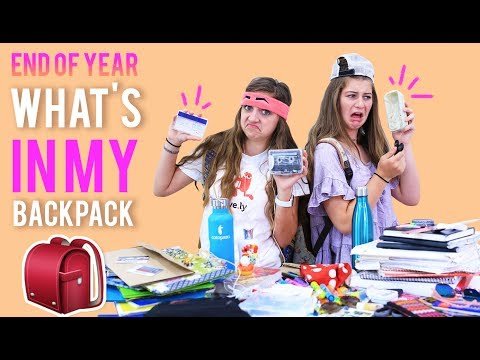 WHAT'S IN MY BACKPACK (End-of-School Challenge) 2017 | Kamri Noel
