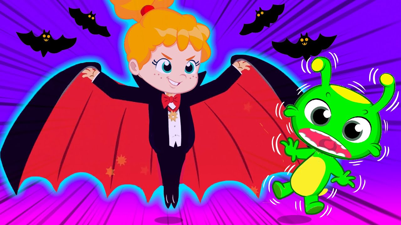 Groovy The Martian educational videos for kids | Let's dress up at Halloween night!