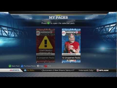 Madden 13: MUT/10 Pack Legend Opening/2 99s 1 pack/Channel Update