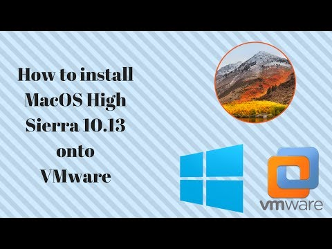 How to install MacOS High Sierra 10.13 onto VMware (Windows)