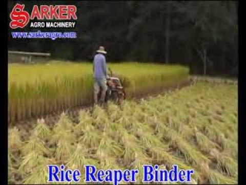 Rice Reaper Binder Machine