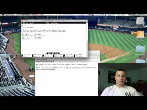 Edit Locked Host File On Mac OSX Lion