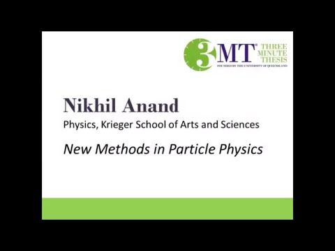 2018 Three Minute Thesis Finalist | Nikhil Anand
