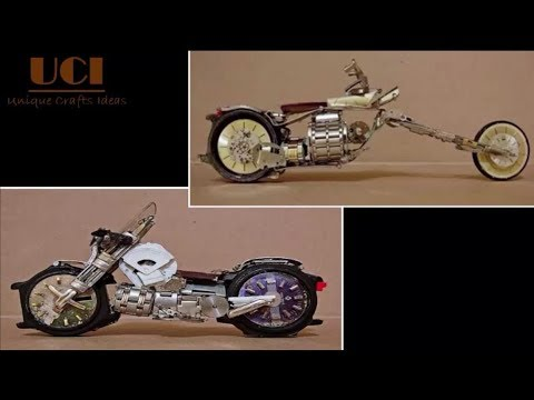 Motorcycle Art From Watch Parts – Amazing DIY Crafts Ideas