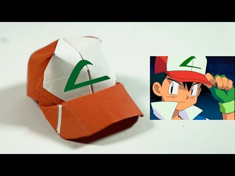 Paper Hat - Origami Ash Ketchum Hat tutorial - DIY (Henry Phạm)
