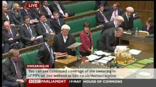 Sadiq Khan MP Swears in.
