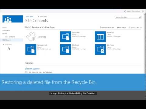 Renaming, Deleting, and Restoring items in a SharePoint 2013 Document Library