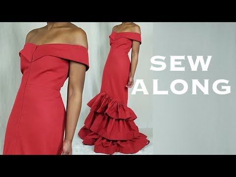 DIY Off-Shoulder Layered Gown (Sew Along)