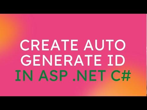 Create Auto Generate ID in C#
