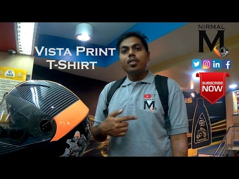 Vistaprint India l Online Printing l T-Shirt with channel logo