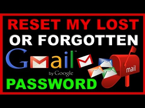 How to Find My Lost or Forgotten Gmail Password | Forgot Gmail Password - Reset Gmail Password 2017