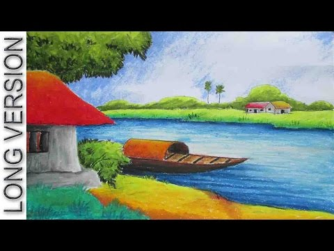 Pastel Painting | Oil Pastel Landscape Drawing Tutorial [Long Version] | Episode-10