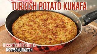 Turkish Style Hash Brown - Savory Potato Kunafa For Breakfast