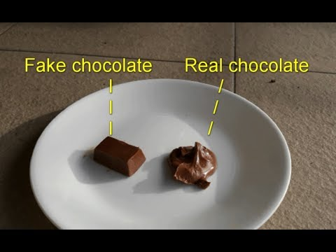 How to tell a Real Chocolate from a Fake Chocolate: The Melt Test