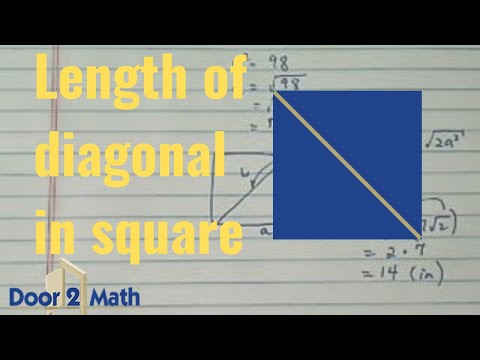 *how to find length of a diagonal of a square?