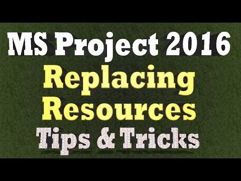 How to Replace Resource Assignment on a Task In Ms Project 2016 - Tips and Tricks 2018
