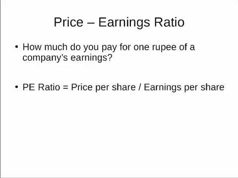 Price-Earnings Ratio (P/E Ratio) - Valuation Method | Equitymaster