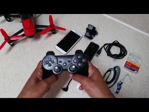 Parrot Bebop Skycontroller Alternative: PS3 Game Controller + Xiaomi Mi USB WiFi Amplifier (part 1)