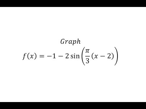 Graph a Transformation of The Sine Function y=Asin(B(x-D))+C  (Neg A)