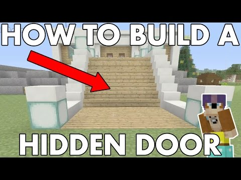 Hidden Staircase Door : Minecraft How To Build : Tutorial