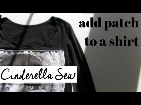 Sew a patch on a shirt - Add patches to clothing - Easy DIY - Customize clothes