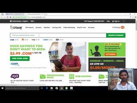How to register a domain name with godaddy  [Tamil]