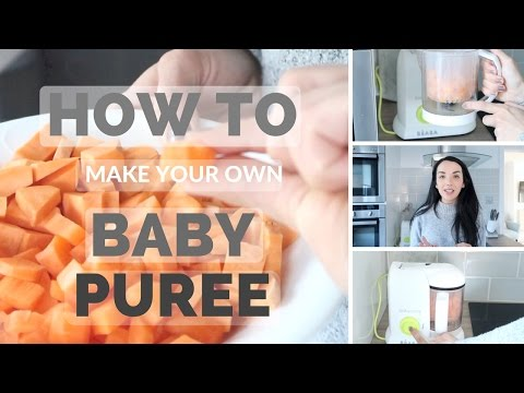 MAKE YOUR OWN BABY PUREE WITH BEABA BABYCOOK TUTORIAL | MAISY MEOW