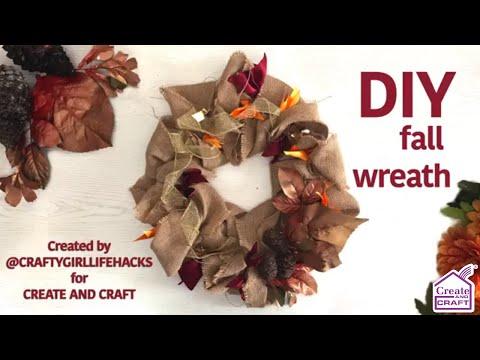 How To Make A DIY Deco Mesh Fall Wreath
