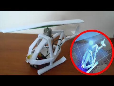 How to make a helicopter with paper Tutorial (A4 297x210)| Demontration 2018