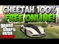 GTA 5 Online - How To Get & Insure The Cheetah For Free Online - Cheetah Online Spawn Location!