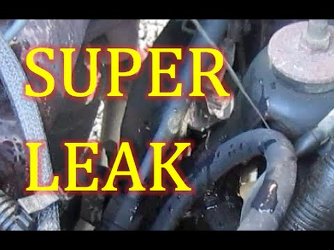 Ford 1500 Truck How to find Power Steering Pressure Hose EXTREME Fluid Leak