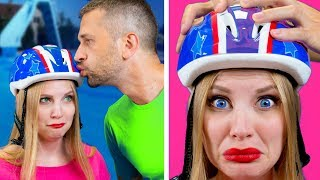 VACATION WITH MY DAD || THINGS DADS DO IN THE SUMMER || Relatable facts by 5-Minute FUN