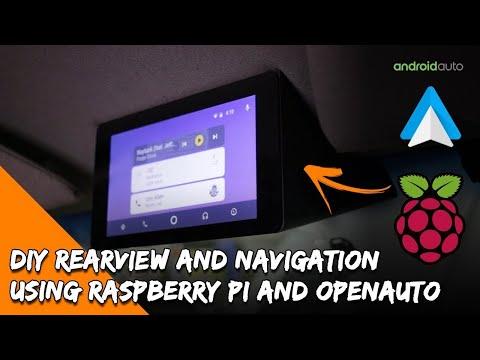 DIY Android Auto Raspberry PI Head Unit, Rear View Camera, Navigation & Music
