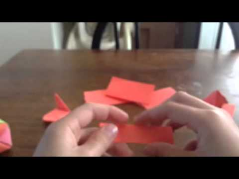 Origami cube with Post-it notes no sticky part 1