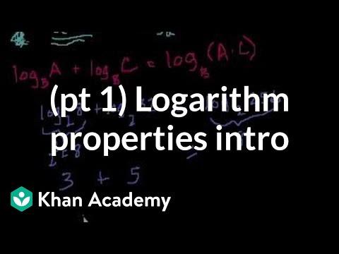 Introduction to logarithm properties | Logarithms | Algebra II | Khan Academy