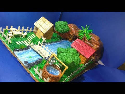 how to make model of village