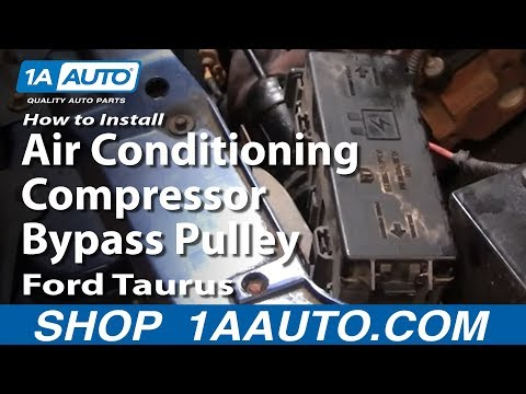How To Install Replace Air Conditioning Compressor Bypass Pulley Ford Taurus 92-03 1AAuto.com