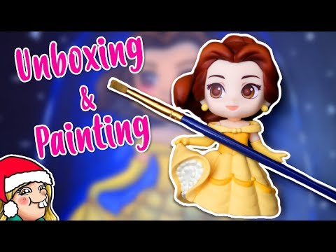 BELLE NENDOROID - Unboxing & Painting 🎄Arty Advent Day 3🎄