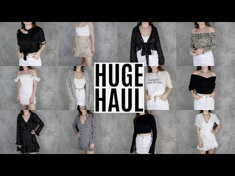 HUGE FALL TRY ON HAUL 2017 | Fashion + Clothing Haul