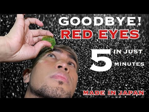 GOODBYE RED EYES in Just 5 MINUTES - Made in Japan Eye Drop