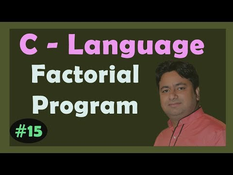 Program - Factorial of a number | C programming code | Learn C programming in Hindi by Manoj Sir